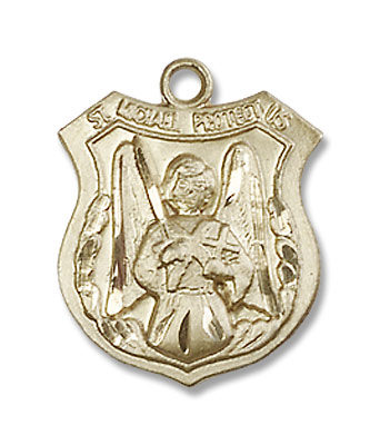 Woman's St. Michael The Archangel Medal - 14K Solid Gold