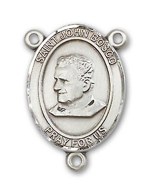 St. John Bosco Rosary Centerpiece Sterling Silver or Pewter - Sterling Silver