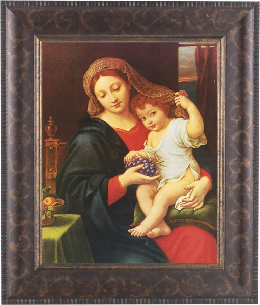 Madonna and Child Holding Veil Framed Print - #124 Frame