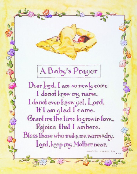 A Baby S Prayer Print Sold In 3 Per Pack