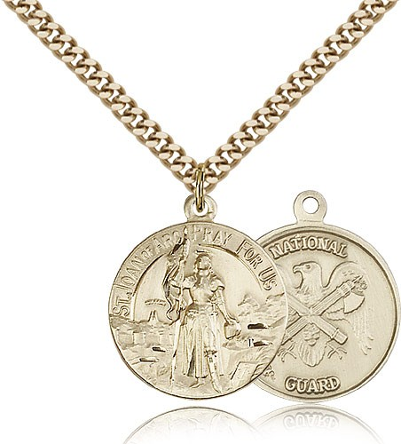National Guard St. Christopher Medal - 14KT Gold Filled