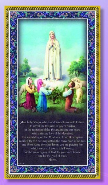 Our Lady of Fatima Italian Prayer Plaque - Multi-Color