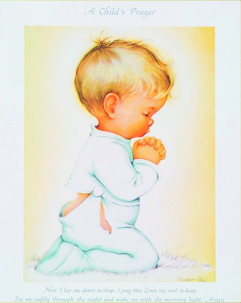 Praying Boy Print - Sold in 3 per pack - Multi-Color