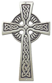 Antiqued Celtic Wall Cross - 3.5 inches - Pewter