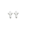 Cross Shaped Earrings - Silver