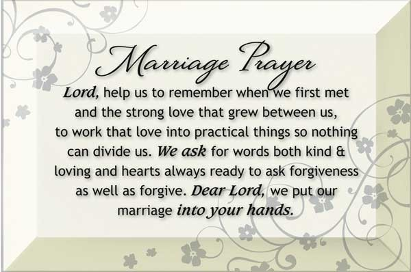 Marriage Prayer Wall Plaque - White