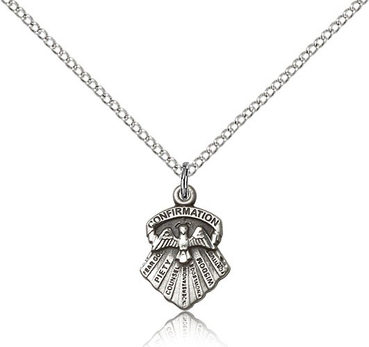 Girl's Seven Gifts Confirmation Pendant - Sterling Silver