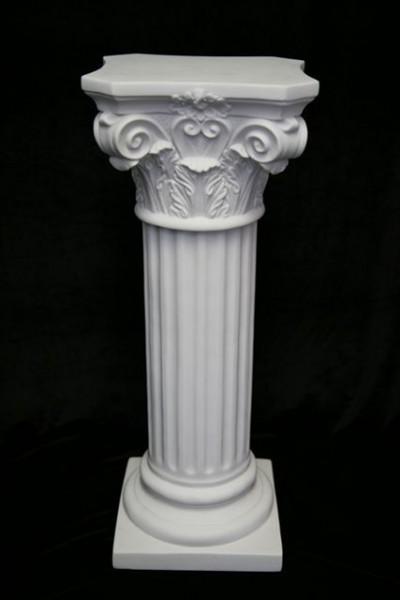 Roman Pedestal Column White 26 Inch