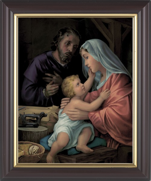 Holy Family In Joseph's Workshop Framed Print - #133 Frame