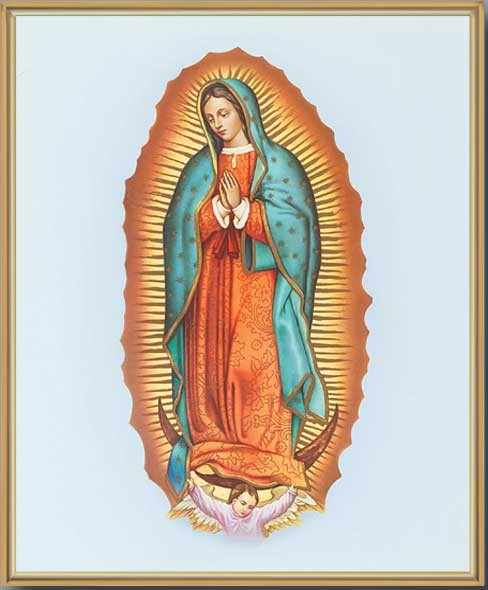 Our Lady of Guadalupe Gold Framed Print - Full Color