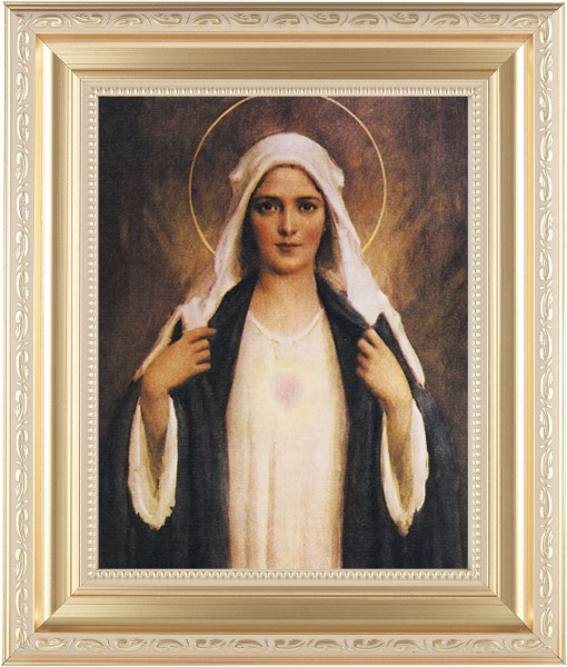 Immaculate Heart of Mary Framed Print - #138 Frame