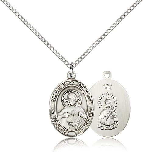 Scapular sacred heart pendant scapular sacred heart pendant sterling silver aloadofball Images