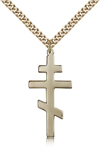 Cross of Saint Andrew Pendant - 14KT Gold Filled