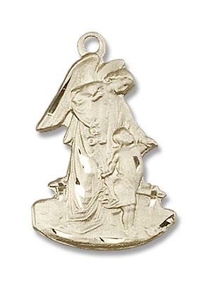 Guardian Angel Medal - 14K Solid Gold