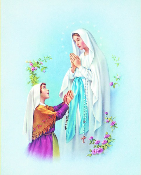 Our Lady of Lourdes Print - Sold in 3 per pack - Multi-Color
