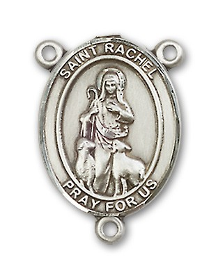 St. Rachel Rosary Centerpiece Sterling Silver or Pewter - Sterling Silver