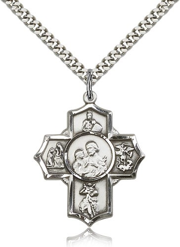 Men's Firefighter 5-Way Medal - Sterling Silver