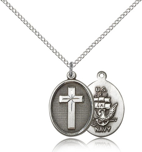 Cross navy pendant cross navy pendant sterling silver mozeypictures Images