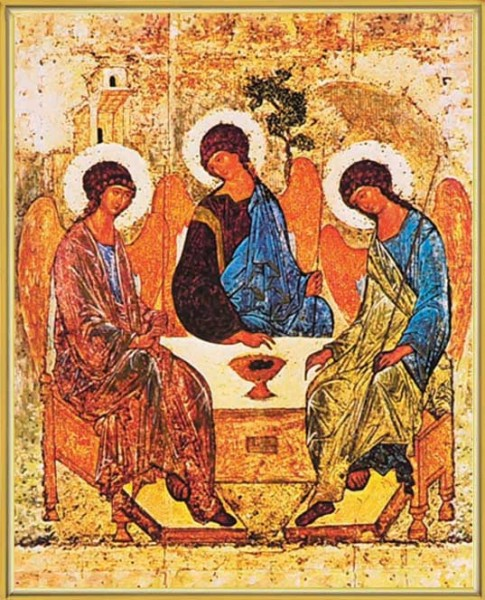 Holy Trinity Gold Framed Print - Full Color