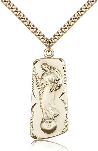 Our Lady of Mental Peace Medal - 14KT Gold Filled