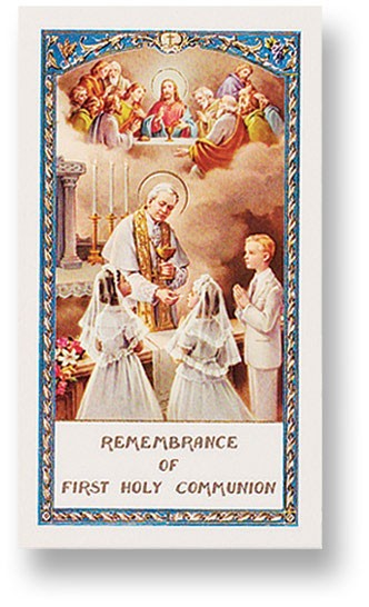 Communion Prayer Boy and Girl Laminated Prayer Cards 25 Pack - Full Color