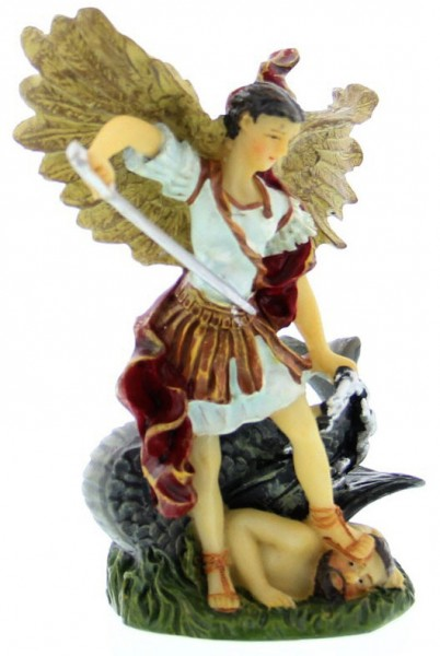 "St. Michael Statue 3.5"" - Multi-Color Browns"