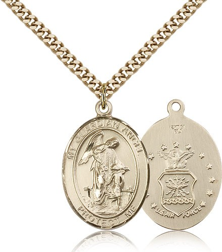 Guardian Angel Air Force Medal - 14KT Gold Filled