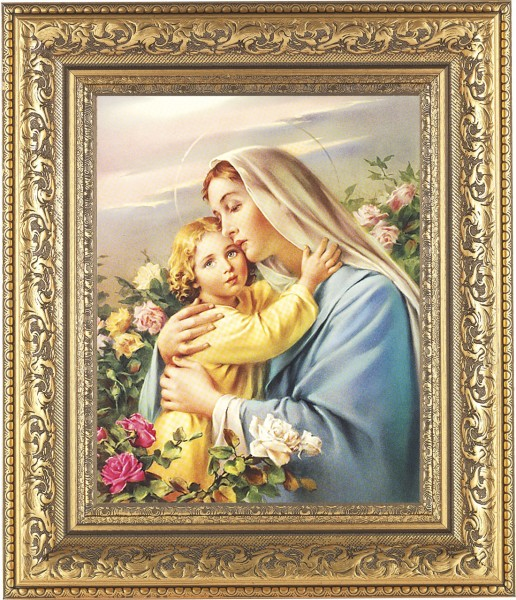 Madonna and Child in the Garden Framed Print - #115 Frame