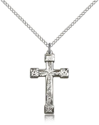 Womens Alpha Omega Cross Pendant