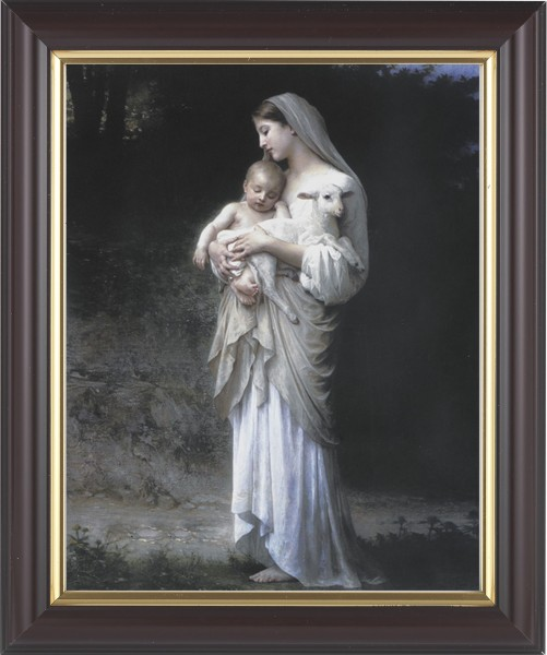 Madonna and Child with Baby Lamb Framed Print - #133 Frame