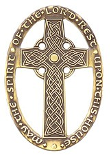 Celtic Design May The Spirit of the Lord Rest Upon This House Wall Cross - 3 inches - Bronze