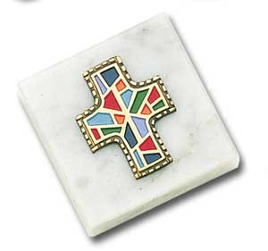 Monogram of Christ Paperweight - Multi-Color