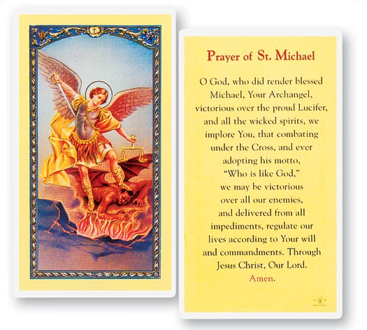 Prayer To St. Michael Laminated Prayer Cards 25 Pack - Full Color