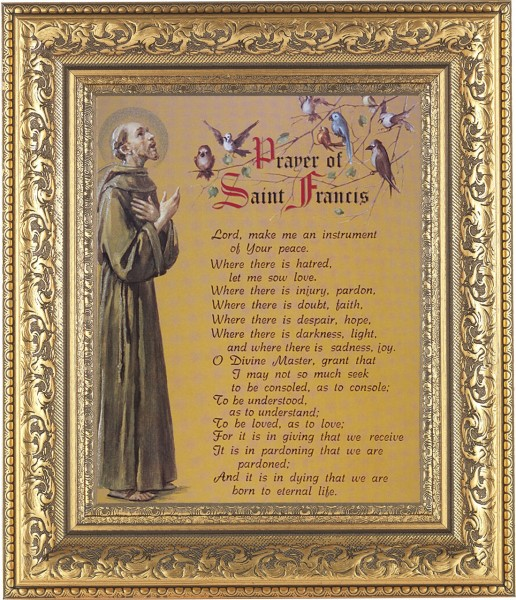 Prayer of St. Francis Framed Print - #115 Frame