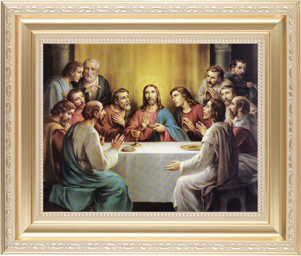 Last Supper Framed Print - #138 Frame