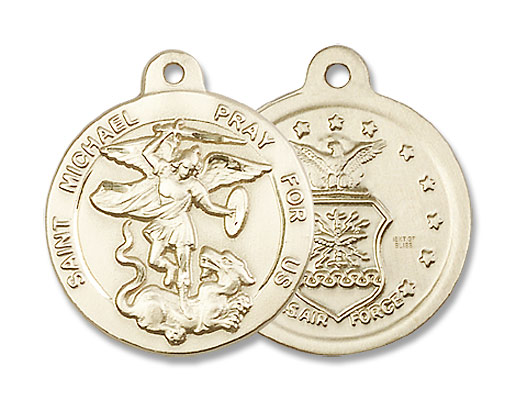 St. Michael the Archangel Air Force Medal - 14K Yellow Gold