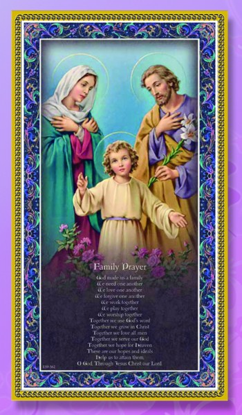 Holy Family Italian Prayer Plaque - Multi-Color