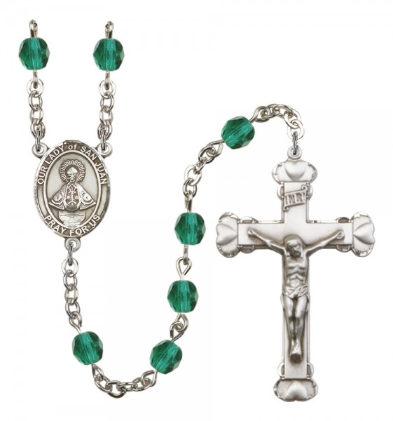 Women's Our Lady of San Juan Birthstone Rosary - Zircon