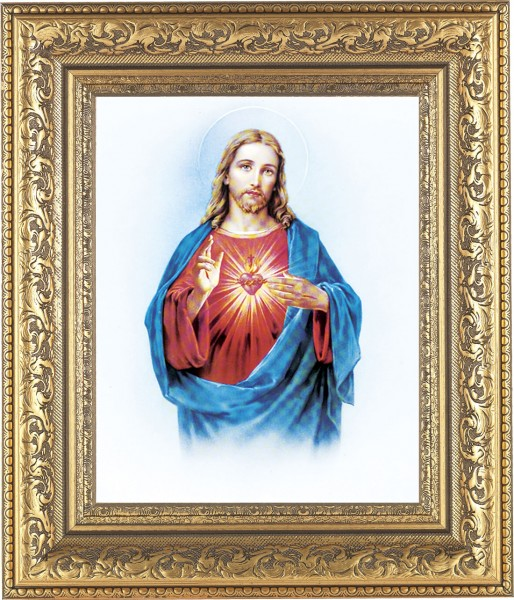 Sacred Heart of Jesus Framed Print - #115 Frame