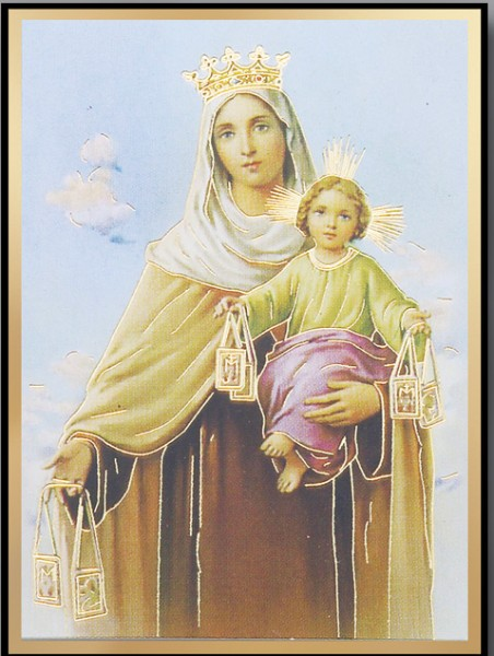 Our Lady of Mt. Carmel Magnetic Frame 4 Per Pack - Full Color