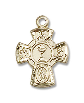 5-Way Chalice Pendant - 14K Solid Gold