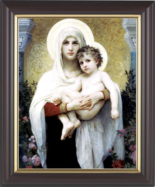 Madonna and Child with Halos Framed Print - #133 Frame