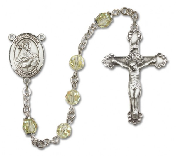 St. William of Rochester Rosary Heirloom Fancy Crucifix - Jonquil
