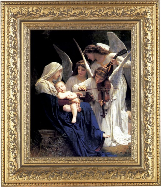 Heavenly Melody Madonna Framed Print - #115 Frame