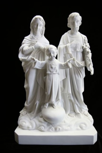 Holy Family Statue White Marble Composite - 23.5 inch - White