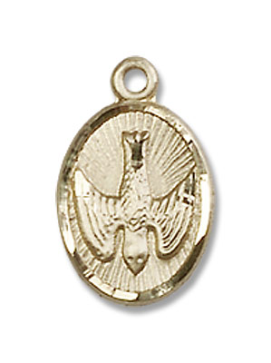 Holy Spirit Medal - 14K Yellow Gold