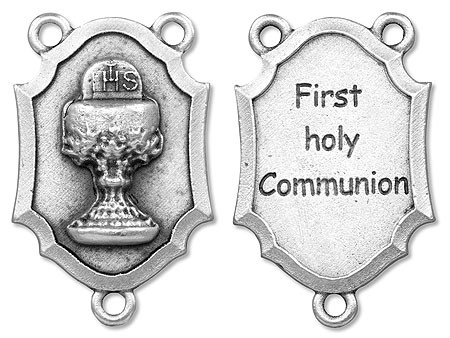 First Communion Rosary Centerpiece - 25 per order - Silver