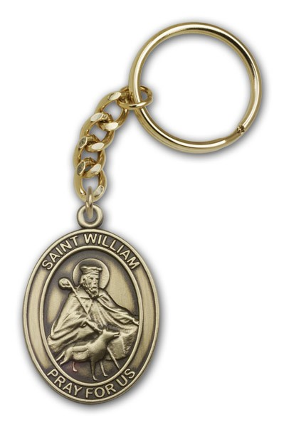 St. William Keychain - Antique Gold