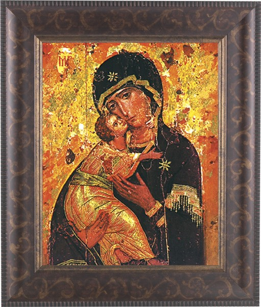 Our Lady of Vladimir Framed Print - #124 Frame