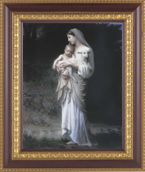 Madonna and Child with Baby Lamb Framed Print - #126 Frame